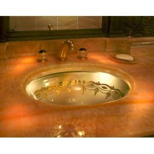 Guest bath sink detail
